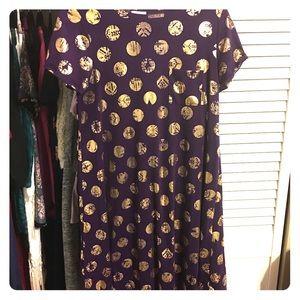 UNICORN ALERT 🦄🦄🦄 purple/gold foil polka dot